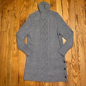 J. Crew Cable Knit Sweater Dress